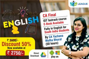 CA FINAL IDT 50 HOURS FASTRACK COURSE May / Nov 20
